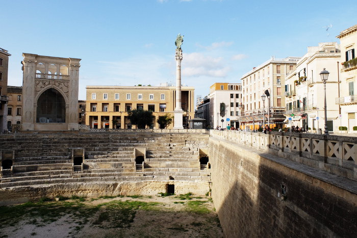 The Roman amphitheater in Lecce