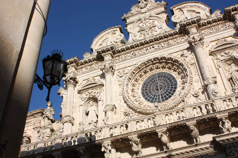 Sights in Lecce: the Basilica of Santa Croce