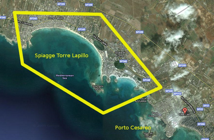 map-beach-porto-cesareo-puglia