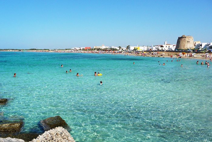 Beautiful beaches in Salento, Puglia: Torre Mozza in Ugento